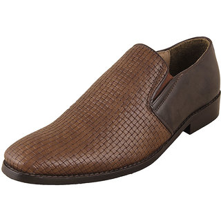 Ziera Brutini Mens Brown Formal Slip On Shoes