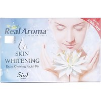 REAL AROMA SKIN WHITENING EXTRA GLOWING FACIAL KIT 5 IN 1