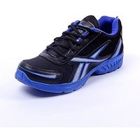 RSC Comfortable Black  Blue Sports Shoes