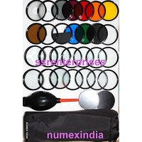 52MM 28 Pc Lens Filter CLOSE UP DIFFUSER Kit For NIKON DIGITAL SLR DSLR CAMERA