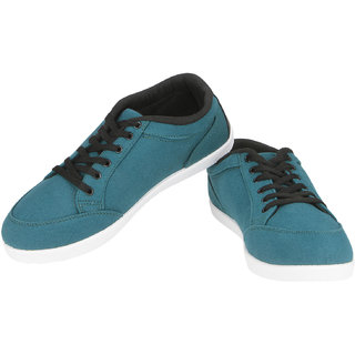 Globalite Mens Teal And Black Casual Shoes