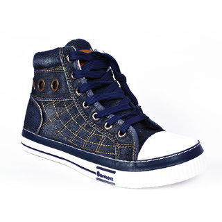 Bonkerz Men Blue Casual Lace-Up Sneakers Shoes (BonkerzSWS05Navy)