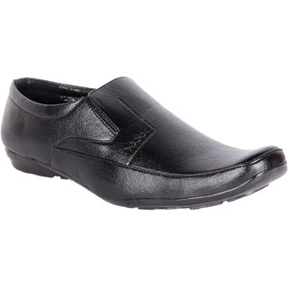 Shoeinverse Mens Black Slip On Shoes