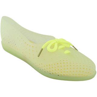 Zachho Women Light Green Lace-Up Casual Shoes (HC169-LightGreenYellow)