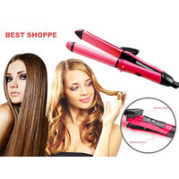 BRANDED HIGH QUALITY 2 IN 1 HAIR STRAIGHTENER CUM CURLER FOR STYLING YOUR HAIR FOR EVERY OCCASION NHC-2009