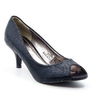 Belle Gambe WomenS Black Wedding Peep Toe Heel Sandals (8C2312Black)