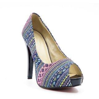 Belle Gambe WomenS Blue Casual Peep Toe Heel Sandals (8C5188Blue)