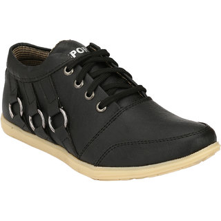 Hnt Men Black Casual Shoes (JD666-BLK)