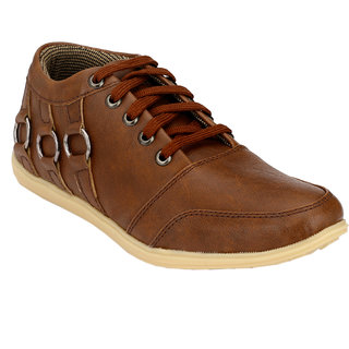 Hnt Men Brown Casual Shoes (JD666-BRN)