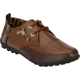 Hnt Men Brown Casual Shoes (JD766-BRN)