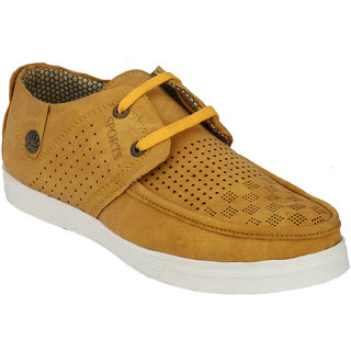 Hnt Men Yellow Casual Shoes (JDV7-YEL)