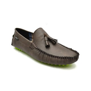 Zoot24 MenS Brown Casual Loafers (D58TASSO3-GREENSOLE)