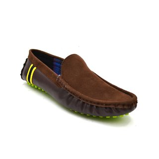 Zoot24 MenS Brown Casual Loafers (D71MIXX3-GREENSOLE)