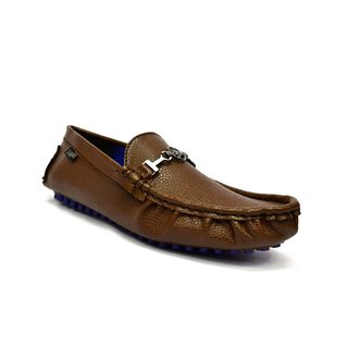 Zoot24 MenS Brown Casual Loafers (D91DAMOCH3-DOTS-BLUESOLE)