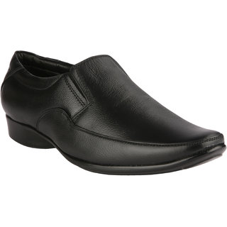 Ishoes MenS Black Slip On Casuals Shoes (KICKER-12020-BLACK) - 91763349