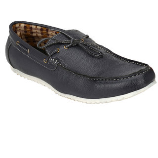 Wave Walk MenS Blue Slip On Boat Shoes (BIG-SIZE-1-BLUE)