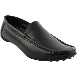 Pureits Leathers MenS Black Slip On Casuals Shoes (PUREITS-A-9018-BLACK)