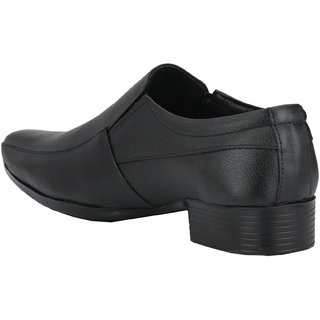 Pureits Leathers MenS Black Slip On Casuals Shoes (PUREITS-A-9019-BLACK)