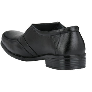 Pureits Leathers MenS Black Slip On Casuals Shoes (PUREITS-A-9024-BLACK)