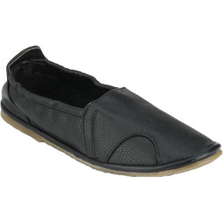 Wave Walk MenS Black Slip On Casuals Shoes (SOCKS-BLACK)