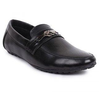 Jovelyn Black SlipOn Loafers J3167