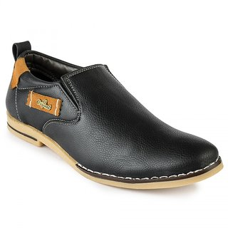 Jovelyn Black Slip On Casual Shoes J3111