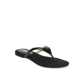 La Mere WomenS Black Casual Slip On Heel Sandals (LA-388)