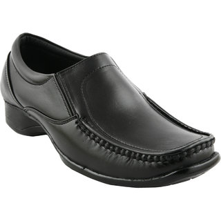 Pureits Leathers MenS Black Slip On Casuals Shoes (PUREITS-A-9070-BLACK)