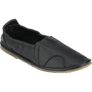 Wave Walk MenS Black Slip On Casuals Shoes (SOCKS-BLACK)