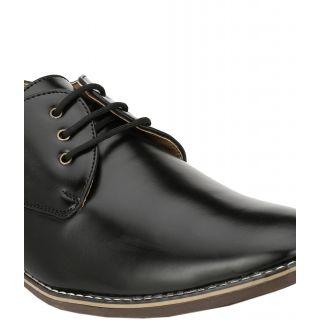 Wave Walk MenS Black Lace-Up Casuals Shoes (TZ004-BLACK)