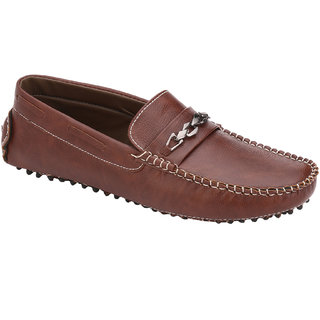 Wave Walk MenS Tan Casual Loafers (WHATSAPP-1-BROWN)