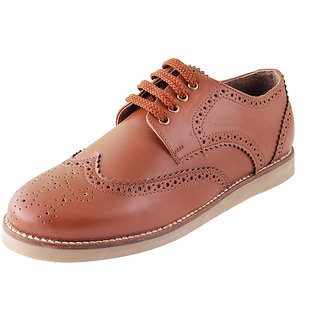 Ziera Men Ascot Brown Brogue Shoes (ZS1041)