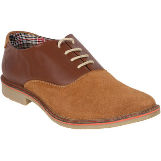Numero Uno MenS Tan Casuals Lace-Up Shoes (NUSM-456-TAN)