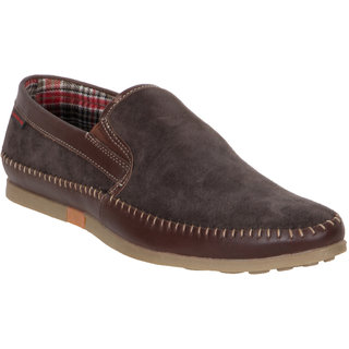 Numero Uno MenS Brown Casual Loafers (NUSM-458-BROWN)