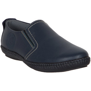 Numero Uno MenS Blue Casuals Slip On Shoes (NUSM-495-NAVY)