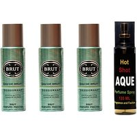 Brut Set Of Brut Deo And Perfume Of Fragrance And Fashion Combo Set (Set Of 4) - 91848405
