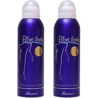 Rasasi 2 Blue Lady Deodorant Spray - For Women (400 Ml)
