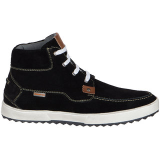 Numero Uno MenS Black Casuals Lace-Up Shoes (NUSM-491-BLACK)