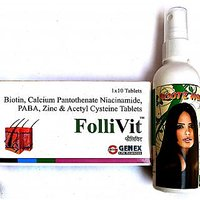 FOLLIVT TABLETS - 60  ROOTZ HERBAL HAIR OIL - 100 Ml. STOP HAIR FALL WITH IN MONTH.