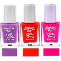 Fashion Bar Sc 576 636 46 Nail Polish Combo,Multi Color,28.5Ml,Pack Of 3