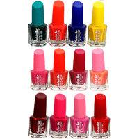 Fashion Bar Fb St Combo 8 Nail Polish Combo,Multi Color,60Ml,Pack Of 12