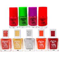 Fashion Bar F B C Combo 1 Nail Polish Combo,MultiColor,45Ml,Pack Of 9
