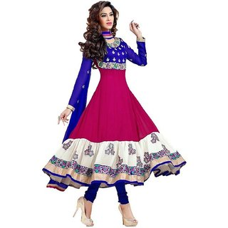 4ba63b522fe5 Buy Apparel Georgette Embroidered Semi-stitched Salwar Suit Dupatta Material  Online   ₹3600 from ShopClues