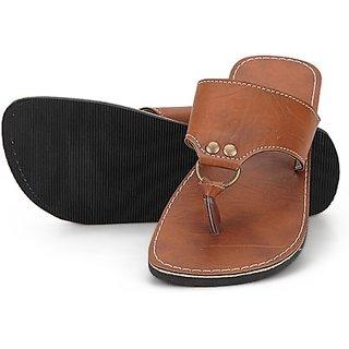 Ethnic Brown Stylish Slipper For Men