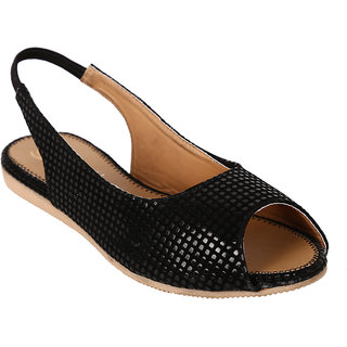 Jade WomenS Black Casual Slip On Sandals (JDB124-Black)