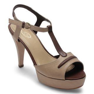 Labriza WomenS Beige Casual Buckle Heel Sandals (1574BEIGE)