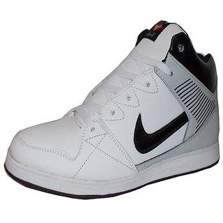 Black Bull  098 White Casual Medium Ankle Sneakers For Men