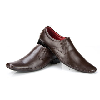 100 Walker MenS Brown Formal Slip On Shoes (SCHOLAR-BROWN)