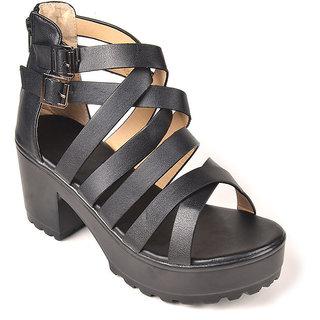 L.G. Footwear Women Black Styles Heel (12831-65-Black)