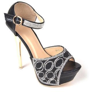 L.G. Footwear Women Black Styles Heel (3185-0156-Black)